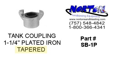 "COUPLING, TANK, 1-1/4"", TAPERED, PLATED IRON"
