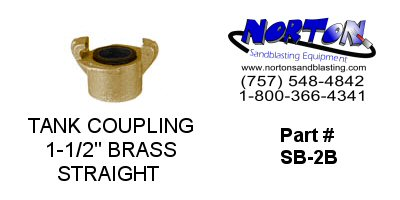 "COUPLING, TANK, 1-1/2"", BRASS"