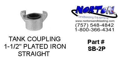 "COUPLING, TANK, 1-1/2"", PLATED IRON, NPT"